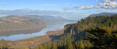 Columbia River Gorge panorama Oregon. Royalty Free Stock Photos