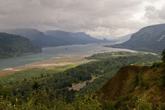 Columbia River Gorge rainfall Royalty Free Stock Photos
