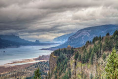 Columbia River Gorge Scenic View in Oregon Royalty Free Stock Image