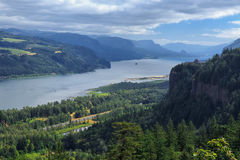 Columbia River Gorge. A view of the scenic Columbia River Gorge along the border of Oregon and Washington Royalty Free Stock Images