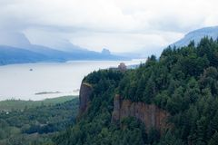 Columbia river gorge view royalty free stock photography