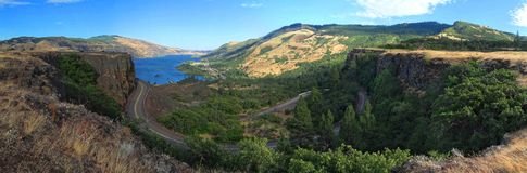 The Columbia River Gorge viewed from Rowena Crest stock photos