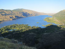 Columbia River Gorge. Columbia River, with Washington State in the distance, Oregon in the foreground Royalty Free Stock Image