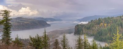 Columbia River Gorge wonderland landscape Oregon. Columbia River Gorge panorama a wonderland landscape Oregon royalty free stock photos