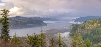 Columbia River Gorge wonderland landscape Oregon. Columbia River Gorge panorama a wonderland landscape Oregon stock photo