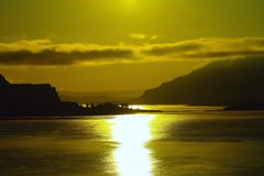 The Columbia river from just east of Bingen Washington Stock Photo