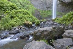 Columbia River klyftavattenfall och gräsplaner Royaltyfri Fotografi