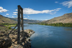 The Columbia River is the largest river in the Pacific Northwest Stock Photo
