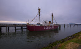 Columbia River Lightship in Astoria Royalty Free Stock Photography