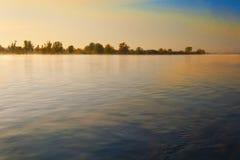 Columbia River morgon Royaltyfri Foto