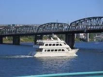Columbia river Portland. Crystal Dolphin cruise Portland, Oregon, USA stock image