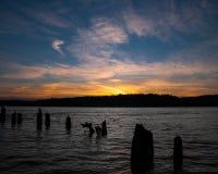 Columbia River Sonnenuntergang lizenzfreies stockbild
