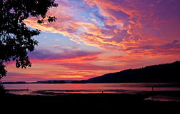 Columbia River sunset Royalty Free Stock Image