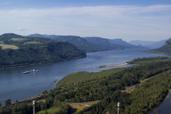 Columbia river and a vessel Stock Photography
