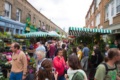 Columbia road flower market Royalty Free Stock Photography