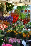 Columbia road flower market in london stock image