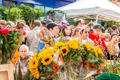 Columbia Road Flower Market Stock Photography