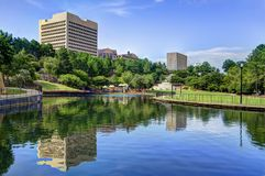 Columbia, South Carolina Park. Finlay Park in Columbia, South Carolina Stock Photos