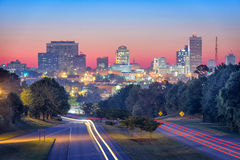Columbia, South Carolina, USA. Skyline and highway royalty free stock photos