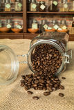 Columbia supremo cofee beans Royalty Free Stock Image