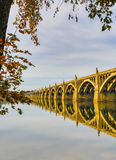Columbia to Wrightsville bridge spans Susquehanna river Stock Images
