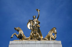 Columbia Triumphant Statue atop USS Maine Monument Royalty Free Stock Images