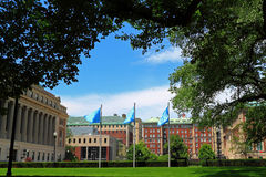 Columbia universitetNew York City universitetsområde Royaltyfria Foton