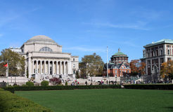 Columbia University. The main campus of Columbia University in Manhattan, withe the very elegant classical style library. building. It is the alma mater of Stock Photos