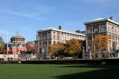 Columbia University. The main campus of Columbia University in Manhattan.  It is the alma mater of President Obama -- the first Columbia graduate ever to become Royalty Free Stock Photos