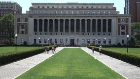 Columbia University in New York City stock video footage