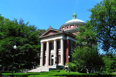 Columbia University Campus Building stock photos