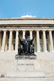 Columbia University Library and Alma Mater statue Stock Photography