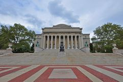 Columbia University Library, Manhattan, New York City. Columbia University Low Library in Upper Manhattan, New York City, USA stock photo