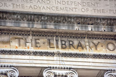 Columbia University Library in New York. Facade royalty free stock photo