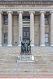 Columbia University Library in New York. Facade stock photography