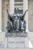 Columbia University Library in New York. Facade stock photo
