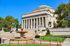 Columbia University Library and Quad New York Royalty Free Stock Images