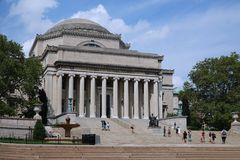 Columbia University,. Located in the north end of Manhattan, is one of the most highly regarded in the United States Stock Photo