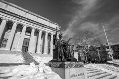 Columbia University. Of New York in winter Stock Images