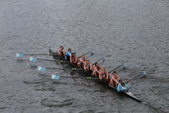 Columbia University races in the Head of Charles Regatta Women's Championship Eights Stock Photo