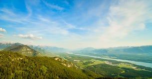 Columbia Valley from Mount Swansea British Columbia Stock Photos