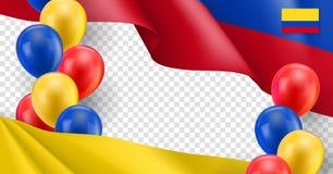 Columbiaans patriottisch malplaatje met exemplaarruimte stock illustratie