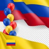 Columbiaans patriottisch malplaatje met exemplaarruimte royalty-vrije illustratie
