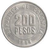 200 Columbiaans peso'smuntstuk Royalty-vrije Stock Foto