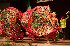 Columbiaanse dansers Stock Afbeeldingen