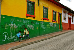 Columbiaanse schooljongens, Bogota Royalty-vrije Stock Afbeelding