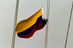 Columbiaanse vlag Stock Afbeelding