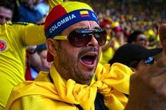 Columbiaanse voetbalventilator Stock Foto