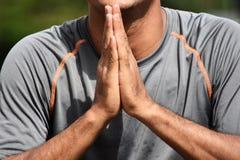 Columbiaanse Volwassen Mannelijke Atleet Begging stock foto