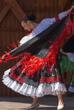 Columbian dancer in traditional costume Stock Image